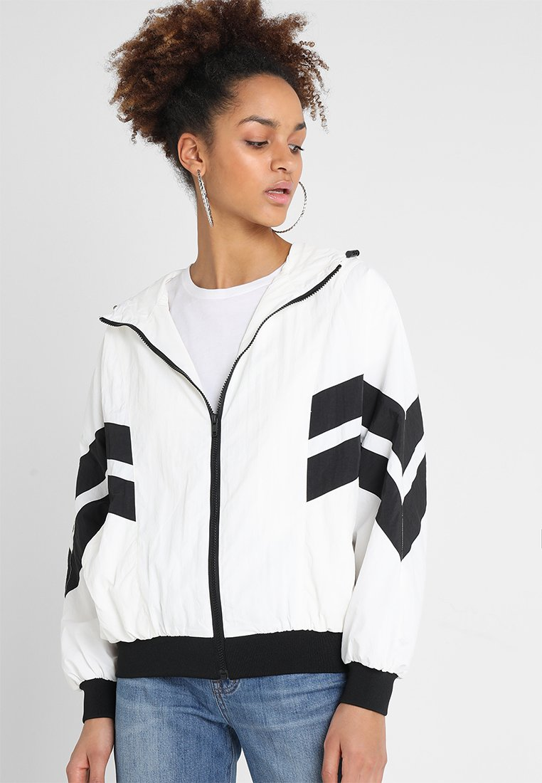 Urban Classics - LADIES BATWING JACKET - Windbreaker - white/black