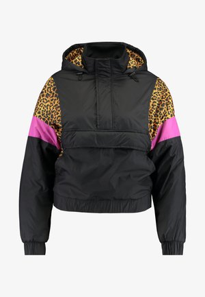 LADIES MIXED PULL OVER JACKET - Allvädersjacka - black