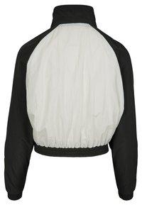 Urban Classics - CRINKLE BATWING  - Sportovní bunda - black/white - 1