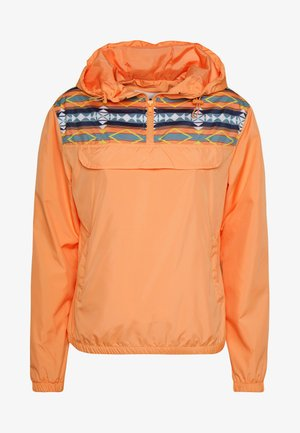 LADIES INKA PULL OVER JACKET - Wiatrówka - papaya/white