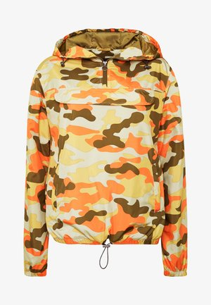 LADIES CAMO PULL OVER  - Waterproof jacket - olive