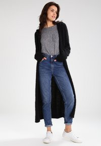 Urban Classics - HOODED FEATHER - Cardigan - black - 0