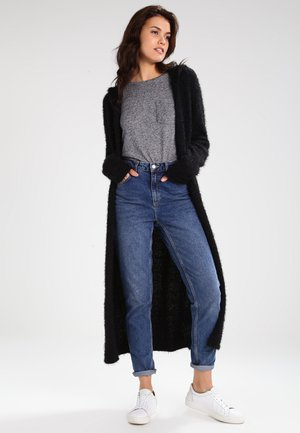 HOODED FEATHER - Strickjacke - black
