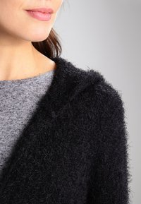 Urban Classics - HOODED FEATHER - Cardigan - black - 4