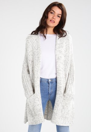 OVERSIZED  - Chaqueta de punto - white/grey