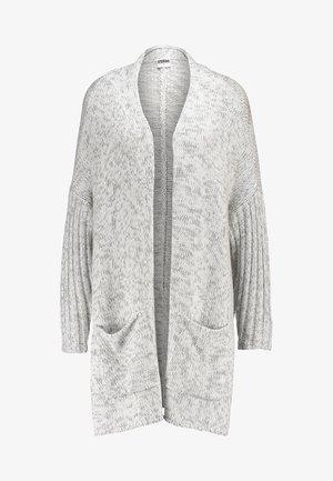 OVERSIZED  - Cardigan - white/grey