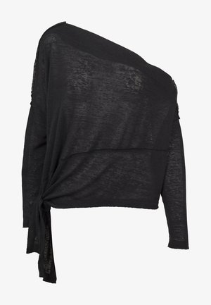 LADIES ASYMMETRIC - Jumper - black