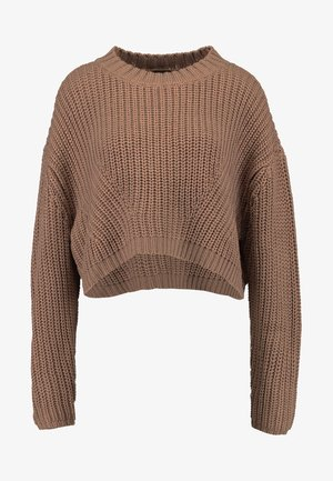 LADIES WIDE OVERSIZE  - Pullover - taupe