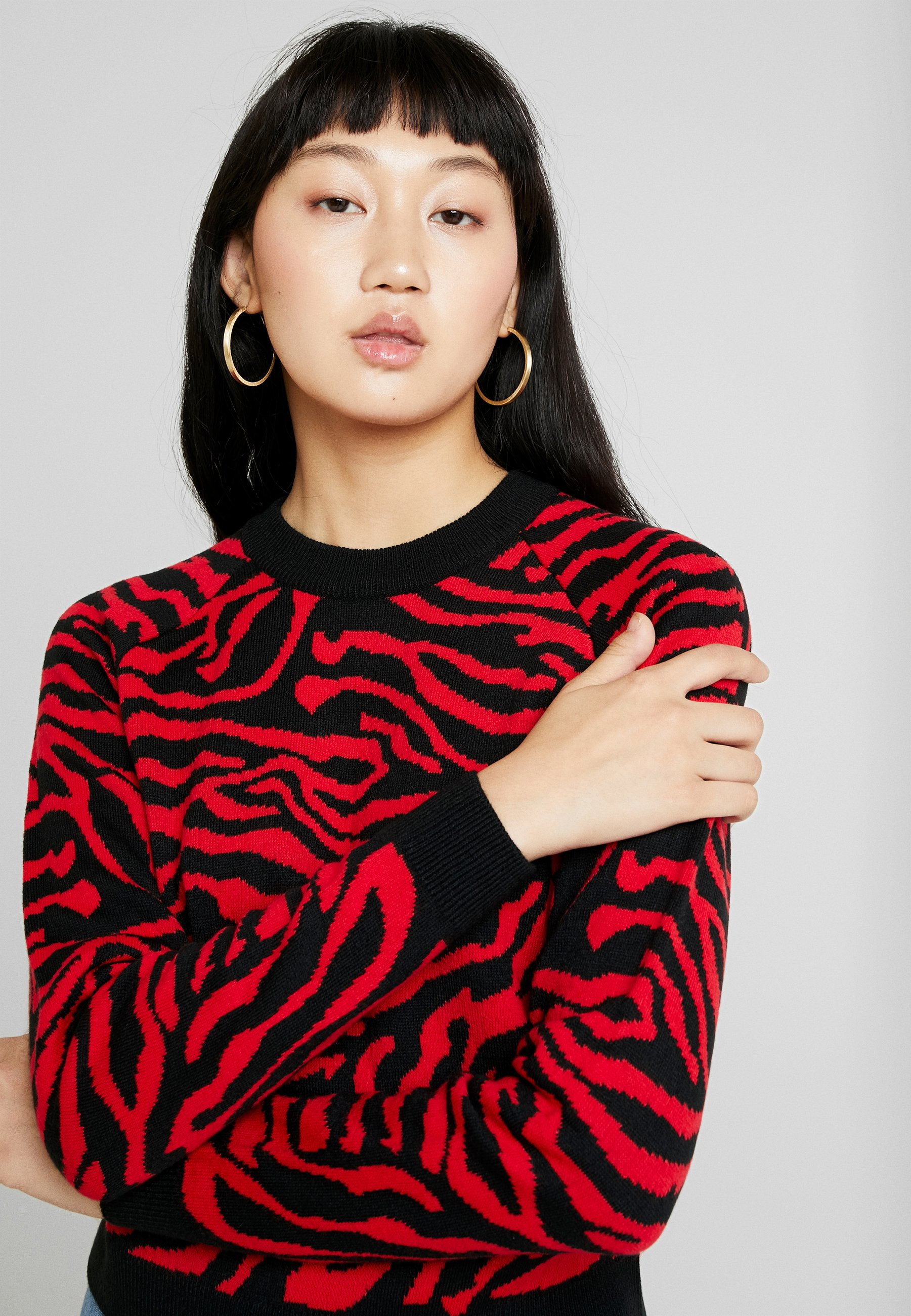 Black Urban Tiger Classics SweaterMaglione firered Ladies b7Yyf6g