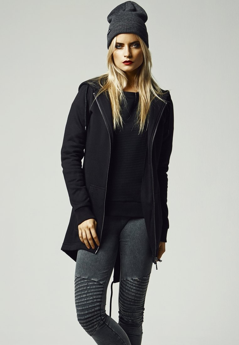 Urban Classics - Zip-up hoodie - black