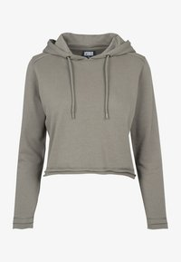 Urban Classics - CROPPED TERRY HOODY - Mikina skapucí - army green - 1