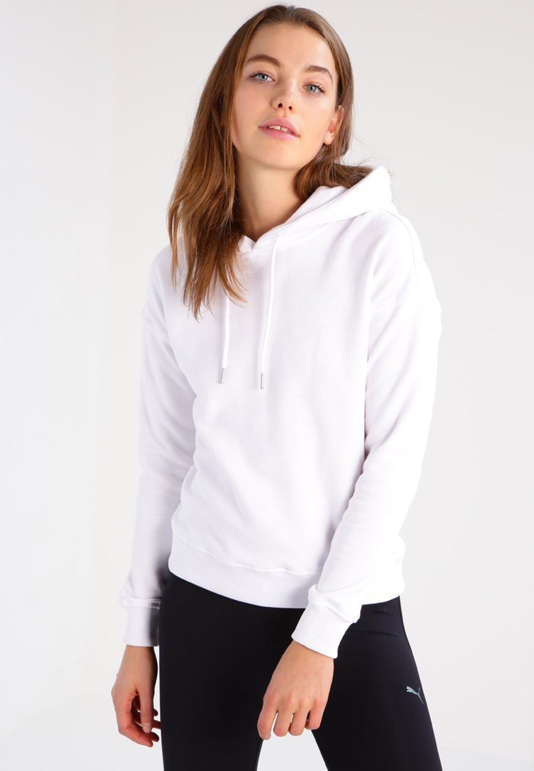 Urban Classics - LADIES HOODY - Huppari - white