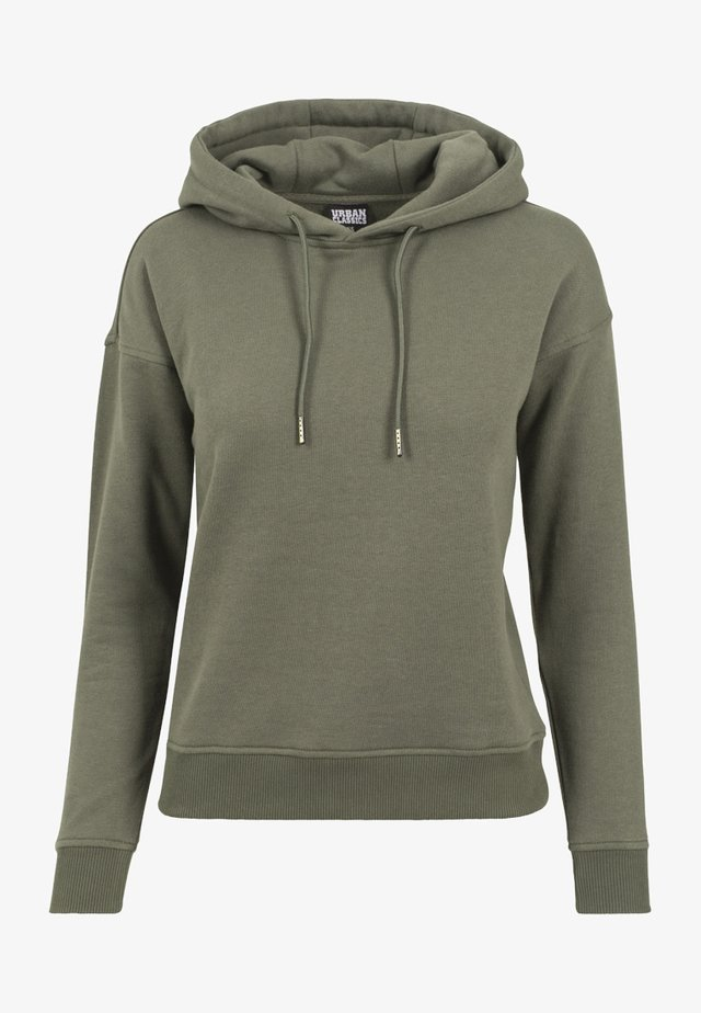 LADIES HOODY - Bluza z kapturem - olive