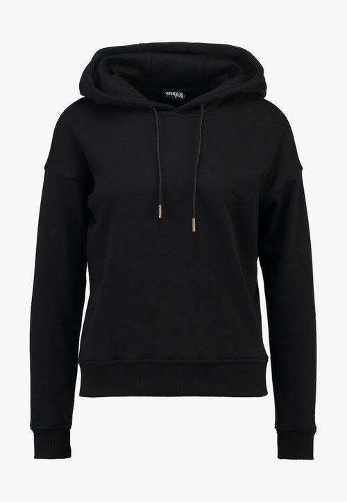 Urban Classics LADIES HOODY - Bluza z kapturem - black Odzież Damska MFDP-OK1 30% OBNIŻONE