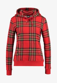 Urban Classics - LADIES HOODY - Bluza z kapturem - red/black - 4