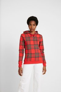 Urban Classics - LADIES HOODY - Bluza z kapturem - red/black - 0