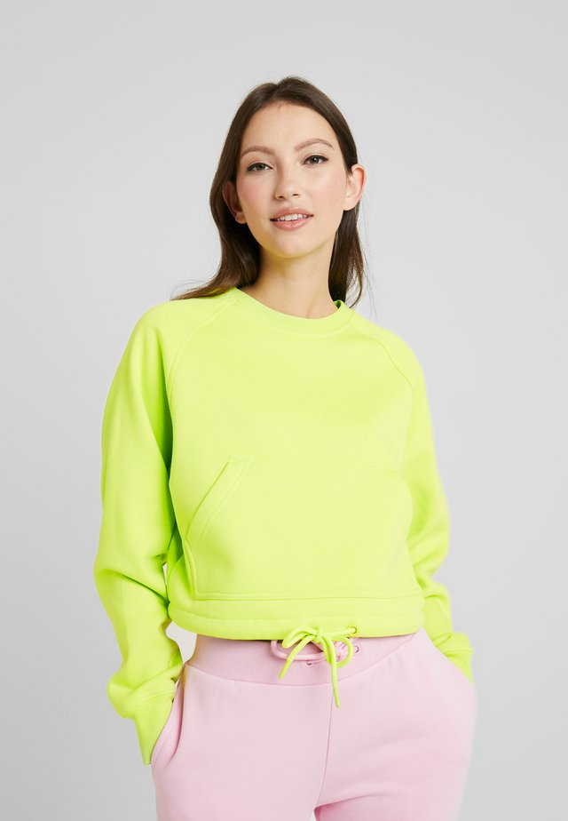 LADIES SHORT RAGLAN CREW - Sweatshirts - neon yellow