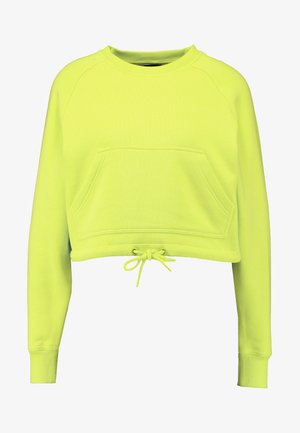LADIES SHORT RAGLAN CREW - Felpa - neon yellow
