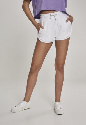 LADIES TOWEL HOT PANTS - Tracksuit bottoms - white