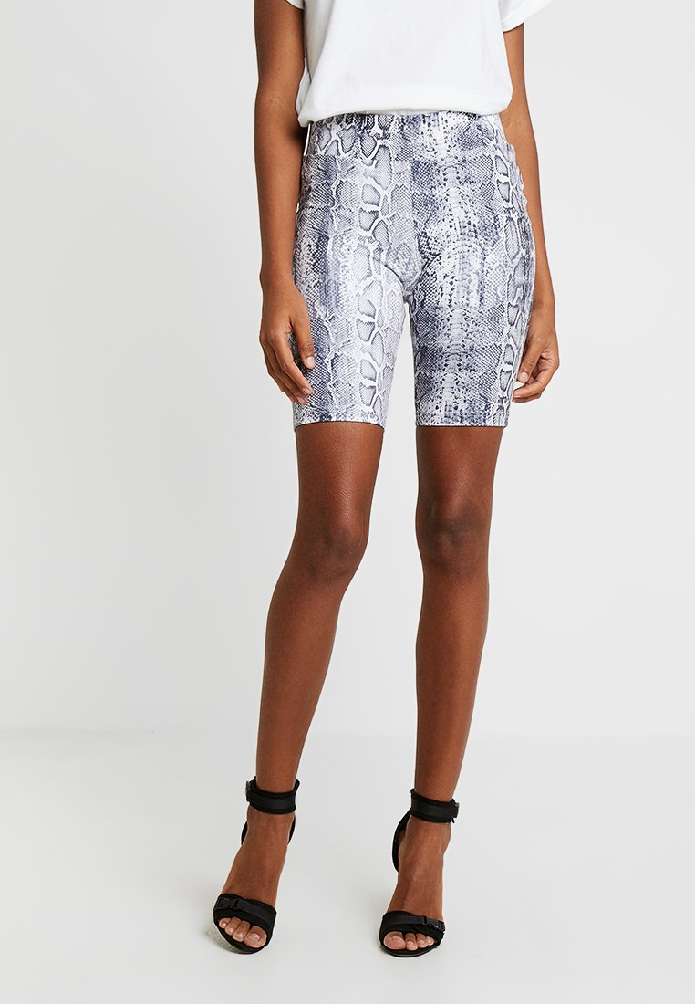 Urban Classics - LADIES CYCLE ANIMAL PRINT - Shorts - grey
