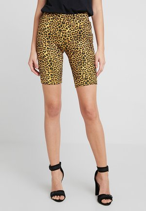 LADIES CYCLE ANIMAL PRINT - Shorts - yellow/black