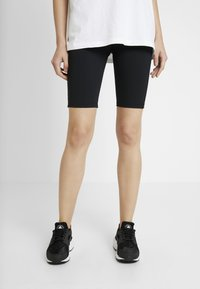 Urban Classics - LADIES HIGH WAIST CYCLING 2 PACK - Short - grey/black - 0