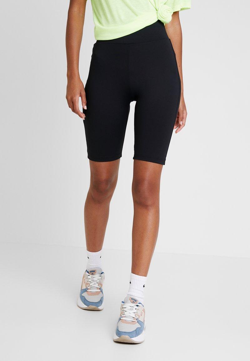 Urban Classics - LADIES HIGH WAIST CYCLING 2 PACK - Shorts - bright yellow/light blue/black