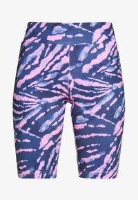 Urban Classics - LADIES TIE DYE CYCLING - Shorts - darkshadow/pink - 3