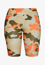 LADIES HIGHWAIST CAMO TECH CYCLE - Shorts - olive