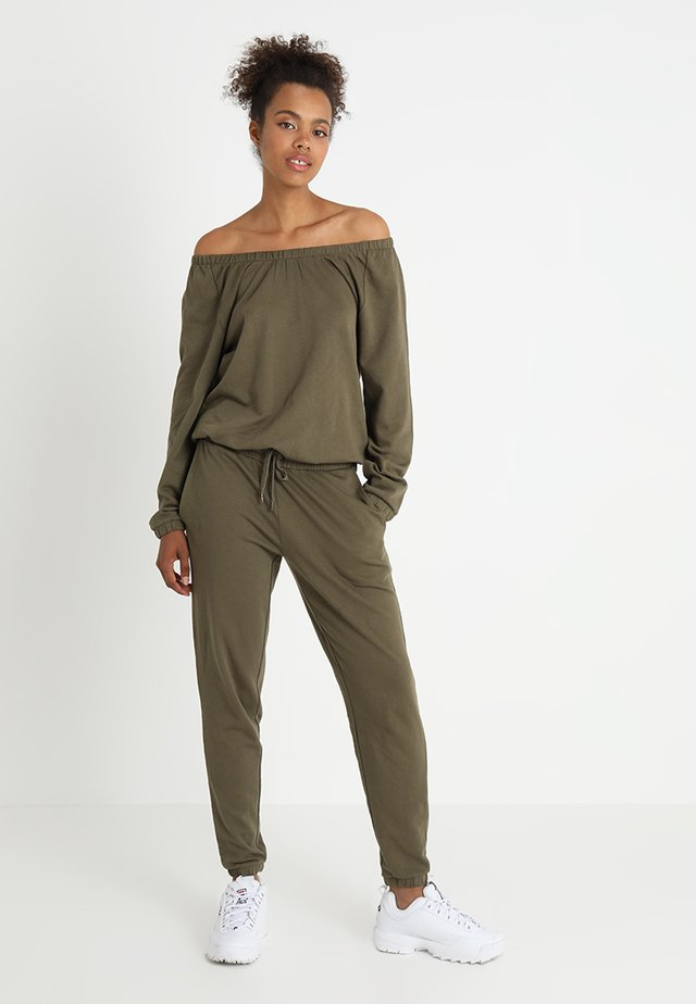 LADIES COLD SHOULDER - Jumpsuit - olive
