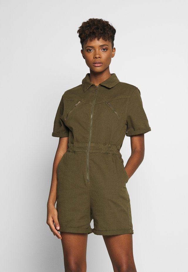 LADIES SHORT BOILER SUIT  - Overall / Jumpsuit /Buksedragter - summerolive