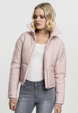 LADIES OVERSIZED HIGH NECK JACKET - Light jacket - rose