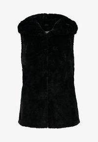 Urban Classics - LADIES HOODED VEST - Waistcoat - black - 4