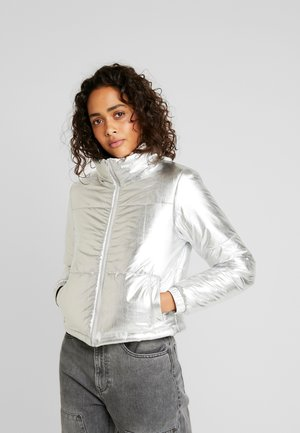 LADIES PUFFER JACKET - Winter jacket - silver