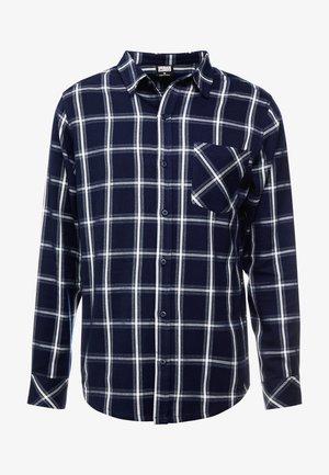 BASIC CHECK - Camicia - navy/white