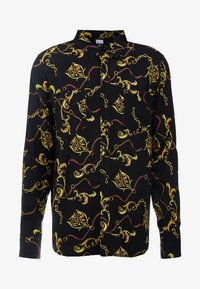Urban Classics - CHAIN PRINT LONG SLEEVE SHIRT - Skjorta - black - 3