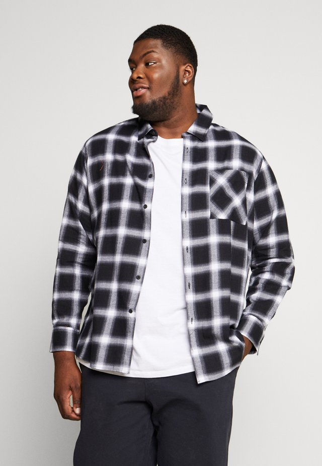 OVERSIZED CHECK - Hemd - black/white