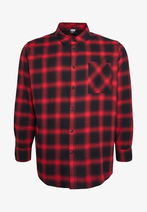 OVERSIZED CHECK - Skjorte - black/red