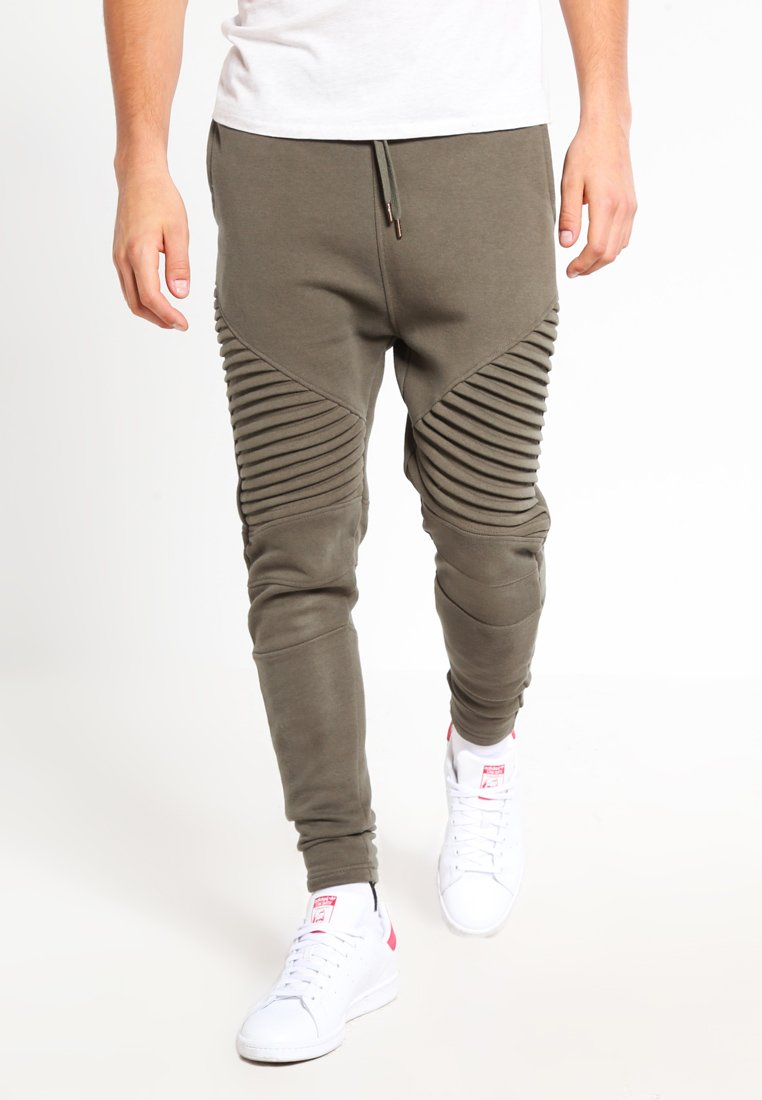 Urban Classics - Tracksuit bottoms - olive