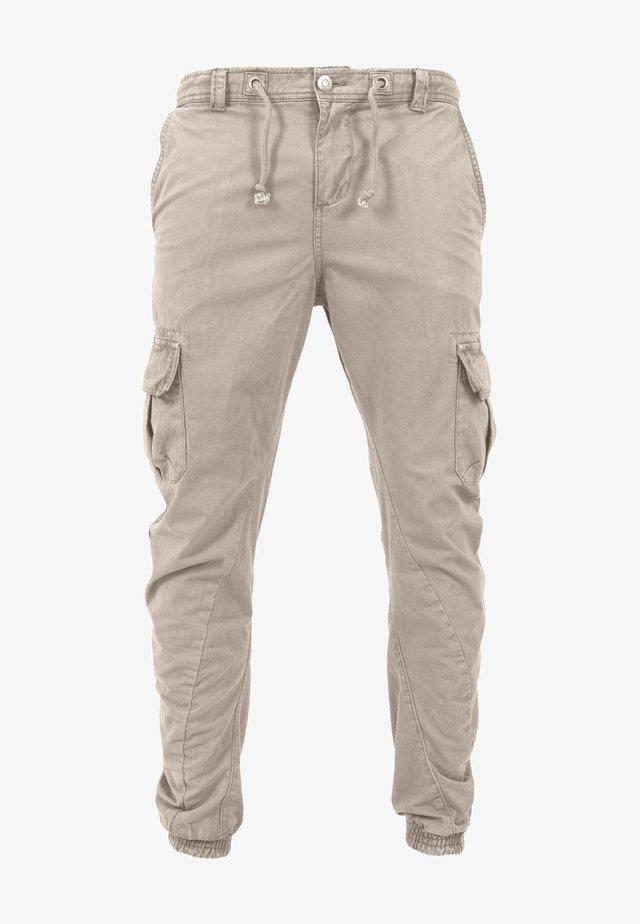 JOGGING - Cargo trousers - sand