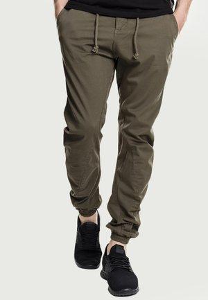 JOGGING - Pantaloni cargo - olive