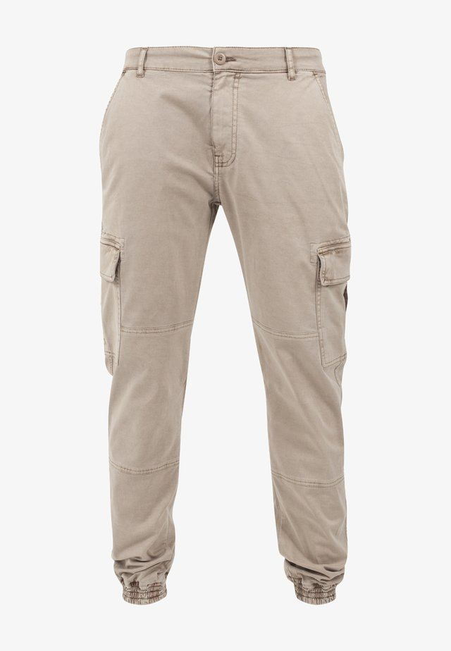 WASHED CARGO  - Cargo trousers - sand