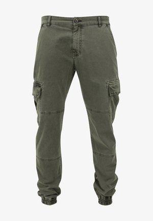 WASHED CARGO  - Pantaloni cargo - olive