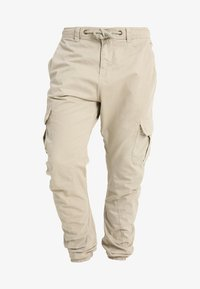 Urban Classics - JOGGING PANT - Cargo trousers - sand - 4