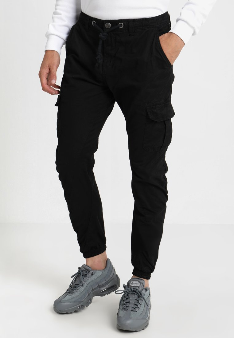 Urban Classics - JOGGING PANT - Cargo trousers - black