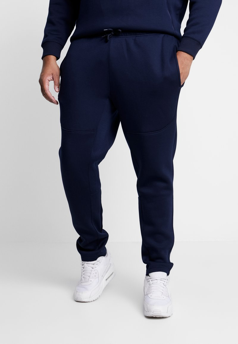 Urban Classics - CUT AND SEW PLUS SIZE - Tracksuit bottoms - midnightnavy