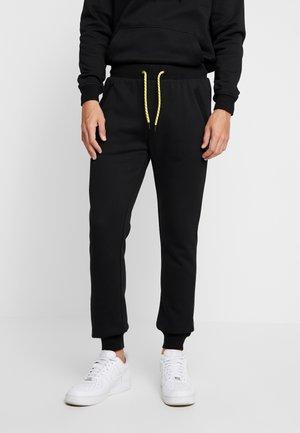CONTRAST DRAWSTRING - Pantalones deportivos - black
