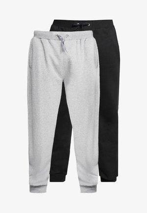 JOGGER PLUS SIZE 2 PACK - Teplákové kalhoty - black/grey
