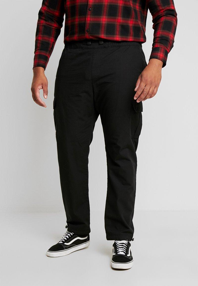 Urban Classics - RIPSTOP PANTS  - Cargo trousers - black
