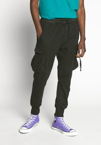Urban Classics - TACTICAL PANTS - Kapsáče - black - 0